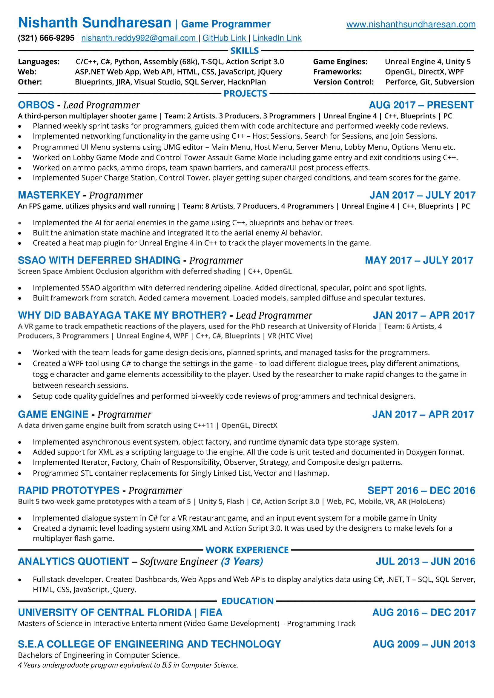 resume nishanth sundharesan - Resume Heat Map